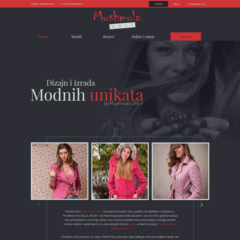 Veb dizajn - Mushmula only
