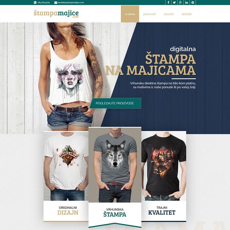 Veb dizajn - Štampa na majicama