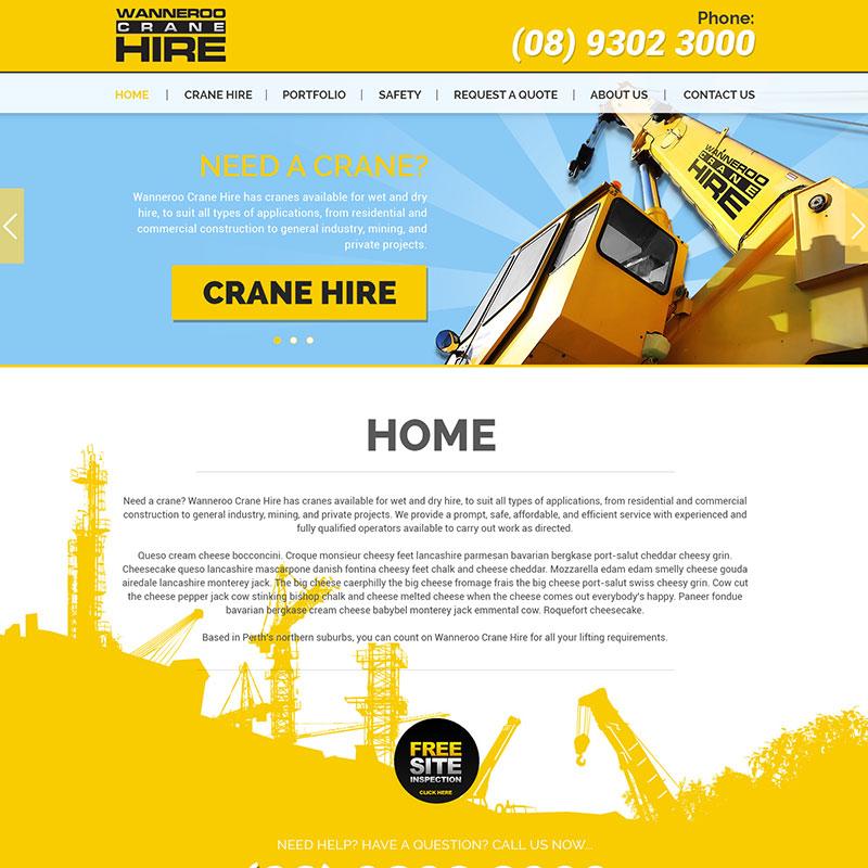 Veb dizajn - Wanneroo Crane Hire