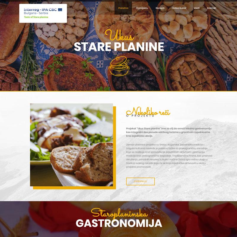 Izrada Sajta - Taste of Stara Planina