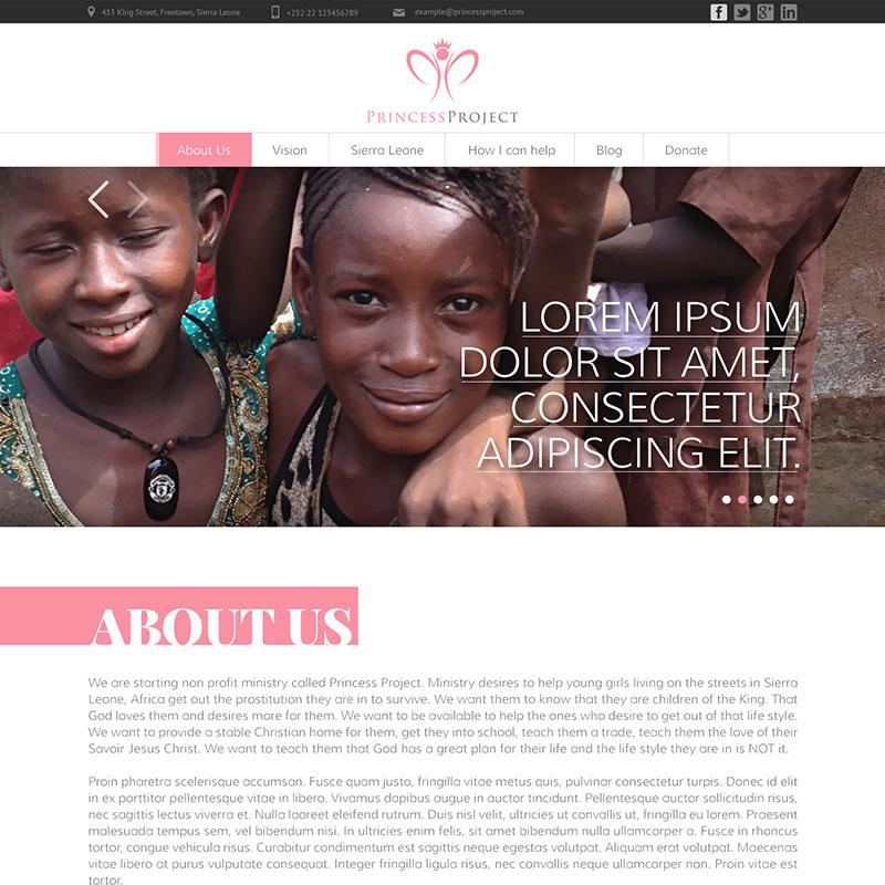 Izrada Sajta - The Princess Project
